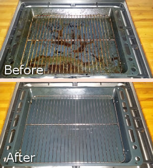 Grill Before and After Cleaning